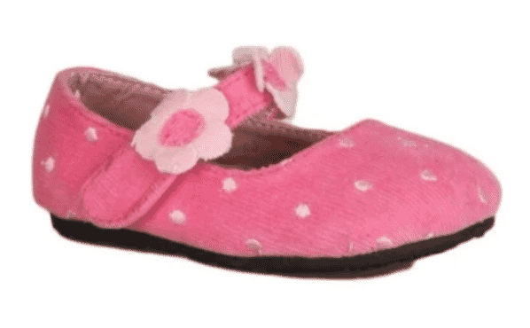 Bear inc Polka- Dot Mary Jane Shoe- Pink
